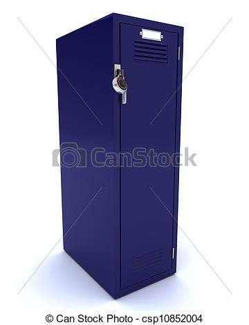 Locker   3d Render Of A School Gym Locker Csp10852004   Search Clipart