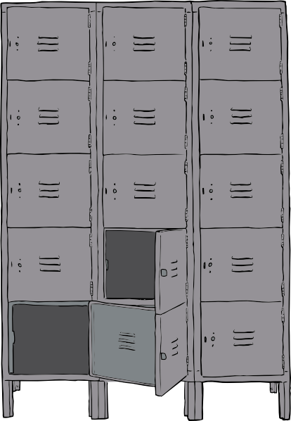 Lockers Clip Art At Clker Com   Vector Clip Art Online Royalty Free