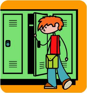 Open School Locker Clip Art Opening A Locker