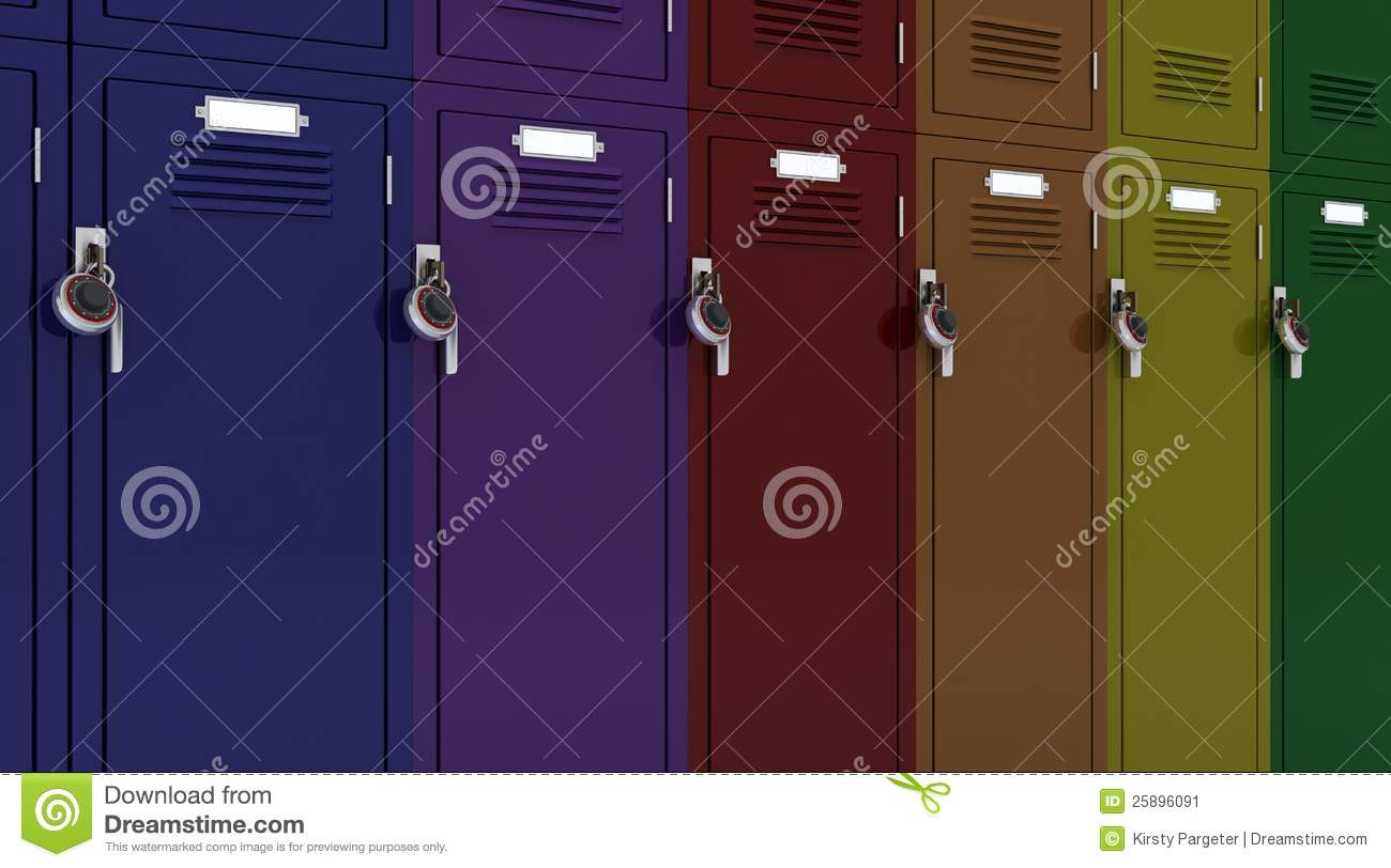 School Gym Locker Stock Image   Image  25896091