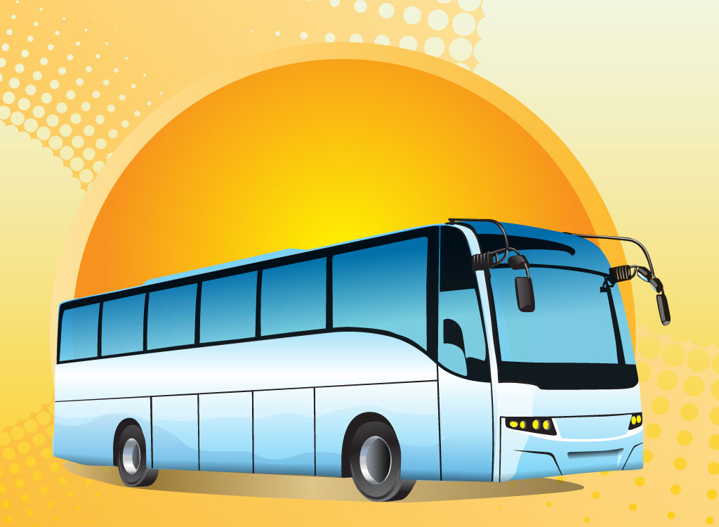 Tour Bus Cartoon Tour Bus Vector