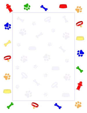 Dog Paper Borders Puppy border clipart - clipart kid