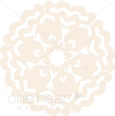 Clipart Lace Doily   Snowflake Wedding Clipart