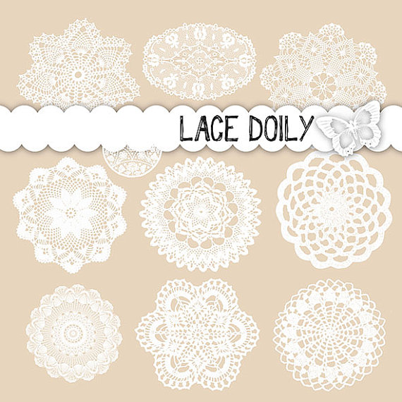 Doily lace clipart white lace digital wedding clipart wedding lace