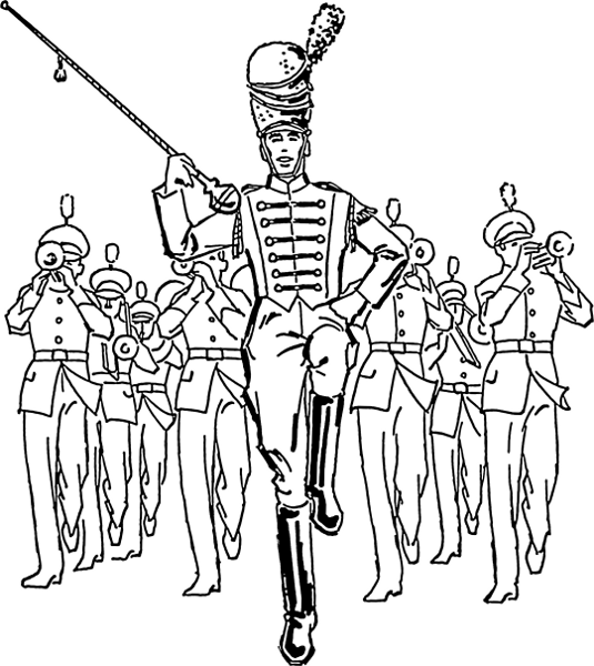 Drum Major   Http   Www Wpclipart Com Music Instruments Percussion