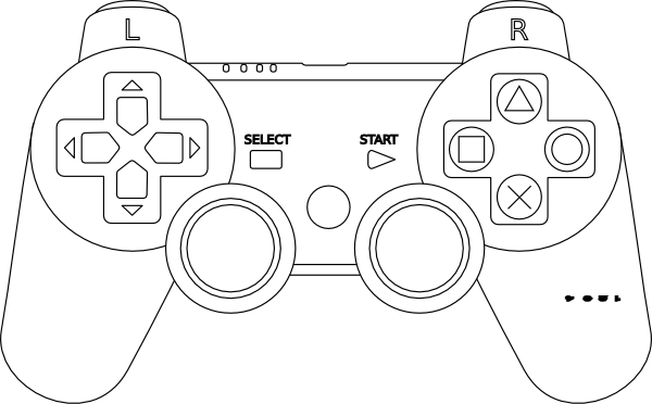 Game Console Controller Outline Clip Art At Clker Com   Vector Clip