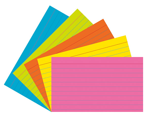 Index Cards 3  X 5  Super Bright Ruled 75 Cards   Pacon