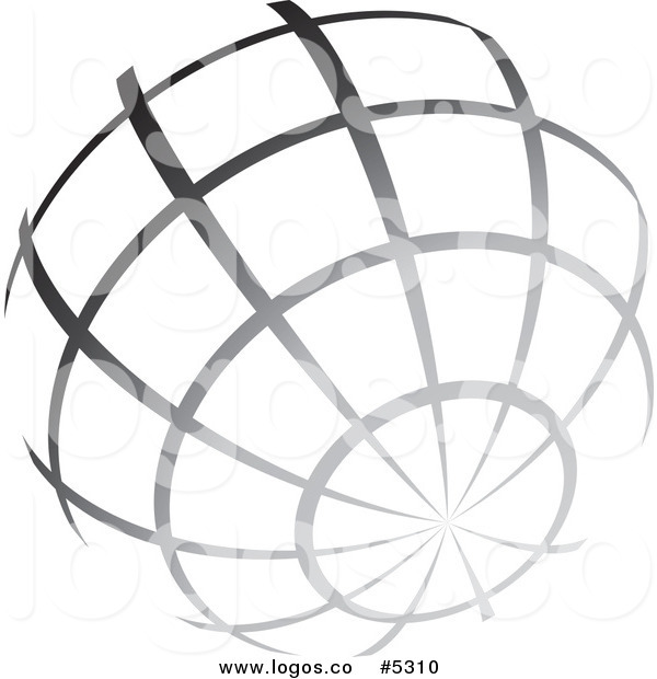 Of A Logo Of A Gradient Grayscale Wire Globe By Ta Images    5310