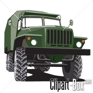 Related Army Truck Cliparts