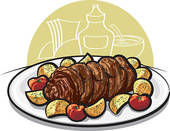 Roast Beef Stock Illustrations  122 Roast Beef Clip Art Images And