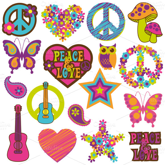 70s Groovy Clipart Retro 70 S Vectors And Clipart