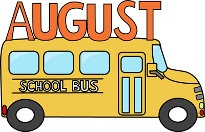 August School Bus Clip Art