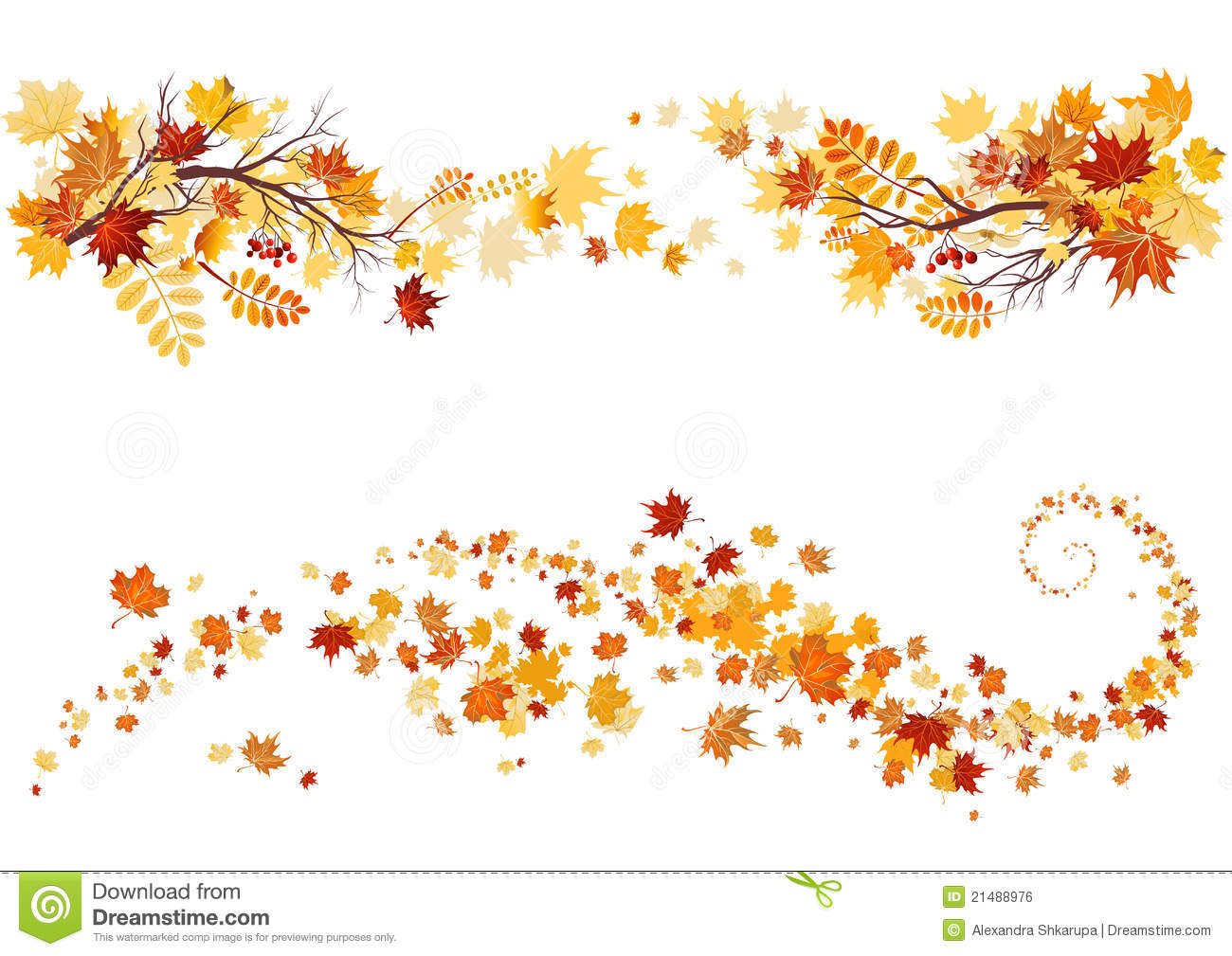 Autumn Leaves Border Royalty Free Stock Image   Image  21488976