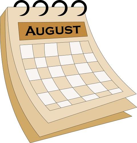 August Calendar Clipart - Clipart Suggest