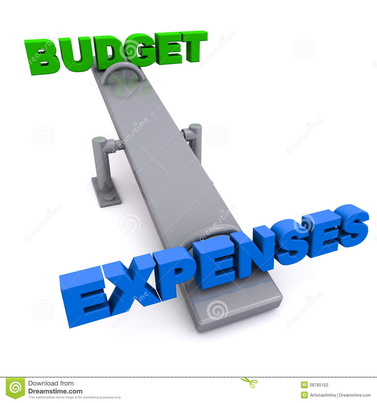 Concept Of Over The Budget Expenses And Exceeding The Budget