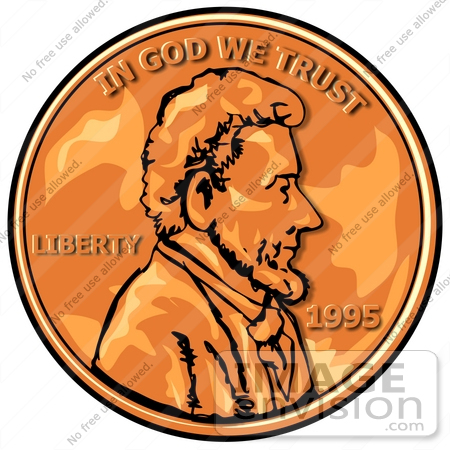 Copper Penny Clip Art
