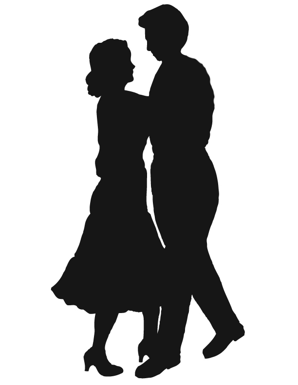 Dancing Couple Silhouette   Clipart Best