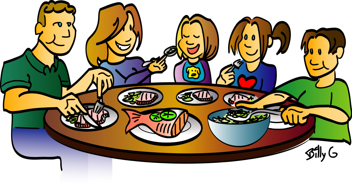 Dinner Table Clipart Dinner Plate With Food Clipart Family Dinner