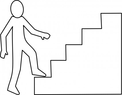 Climbing Stairs Clipart - Clipart Kid