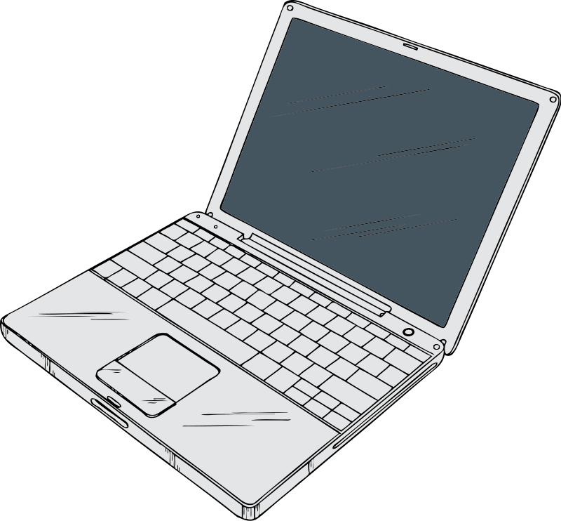 Laptop Clipart - Clipart Kid
