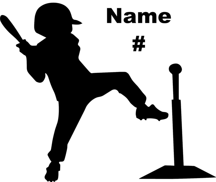 Personalized Baseball Decal Little League T   Ball Boy  Made In Usa