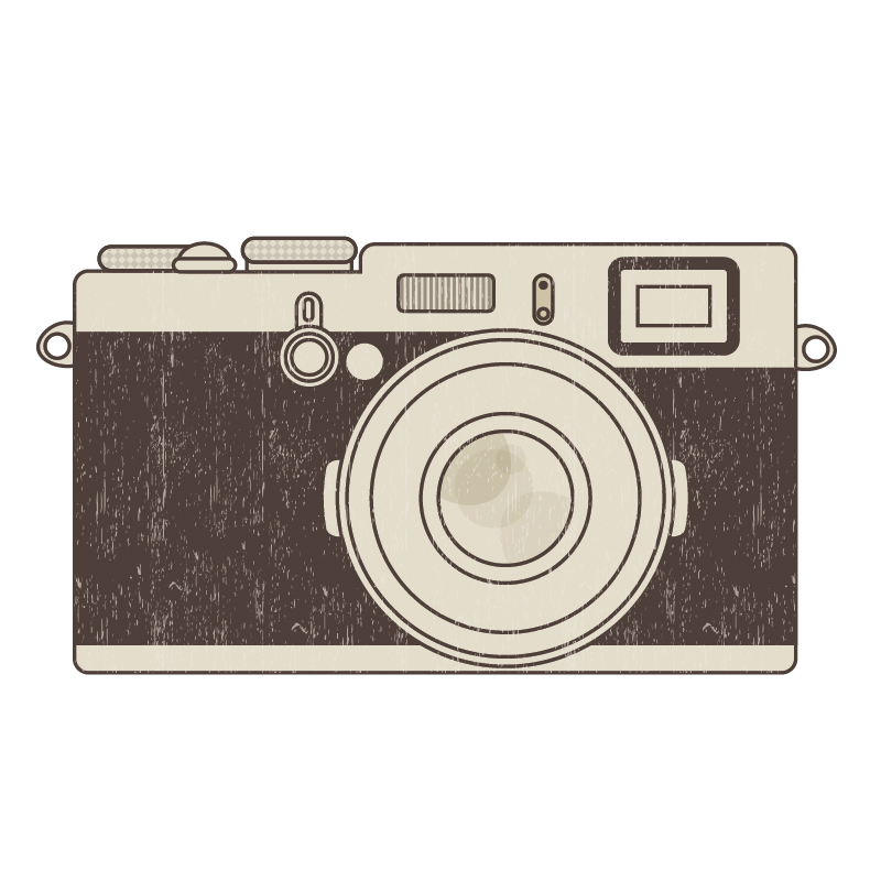 Retro Shabby Photo Camera Clip Art
