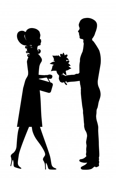 Romantic Young Couple Clipart Free Stock Photo   Public Domain