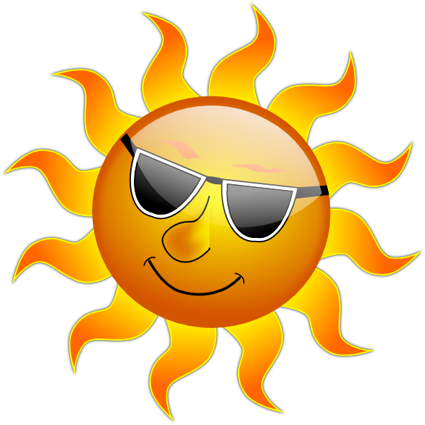 Summer Smile Sun Clip Art At Clker Com   Vector Clip Art Online