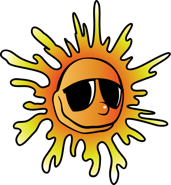 Summer Sunglasses By Pianobrad   A Sun Wearing Sunglasses Created
