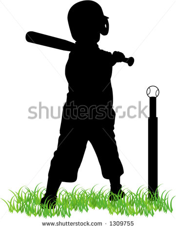 Tee Ball Player Stock Vector Illustration 1309755   Shutterstock