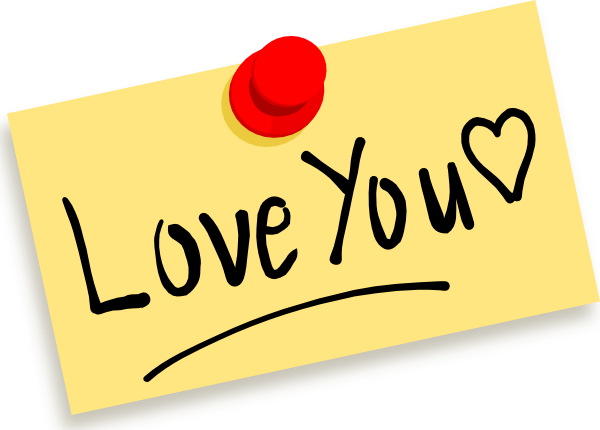 Clip Art I Love You Clip Art i love you clipart kid thumbtack note clip art at clker com vector online