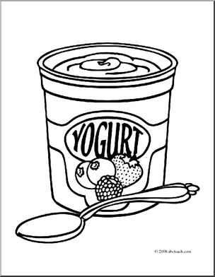 Yogurt Clipart Clipart Suggest Yogurt Coloring Page
