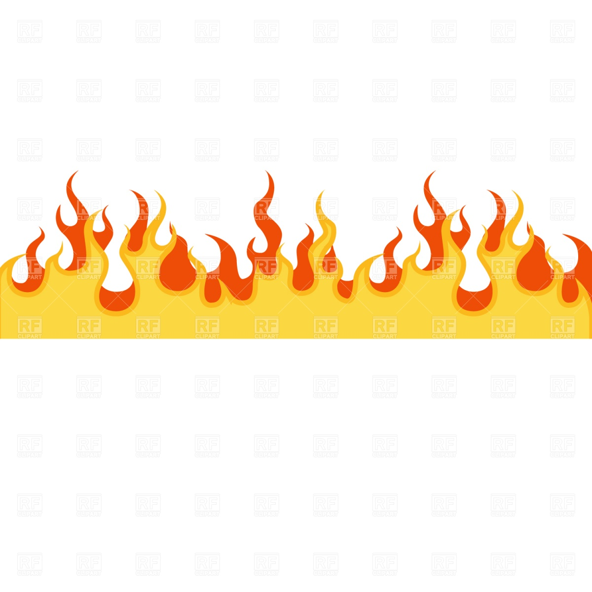 Borders And Frames   Flame Frame Download Royalty Free Vector Clipart