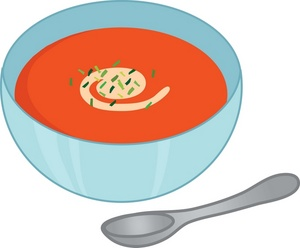 Bowl Full Of Tomato Soup With A Soup Spoon 0071 0907 0609 2840 Smu Jpg