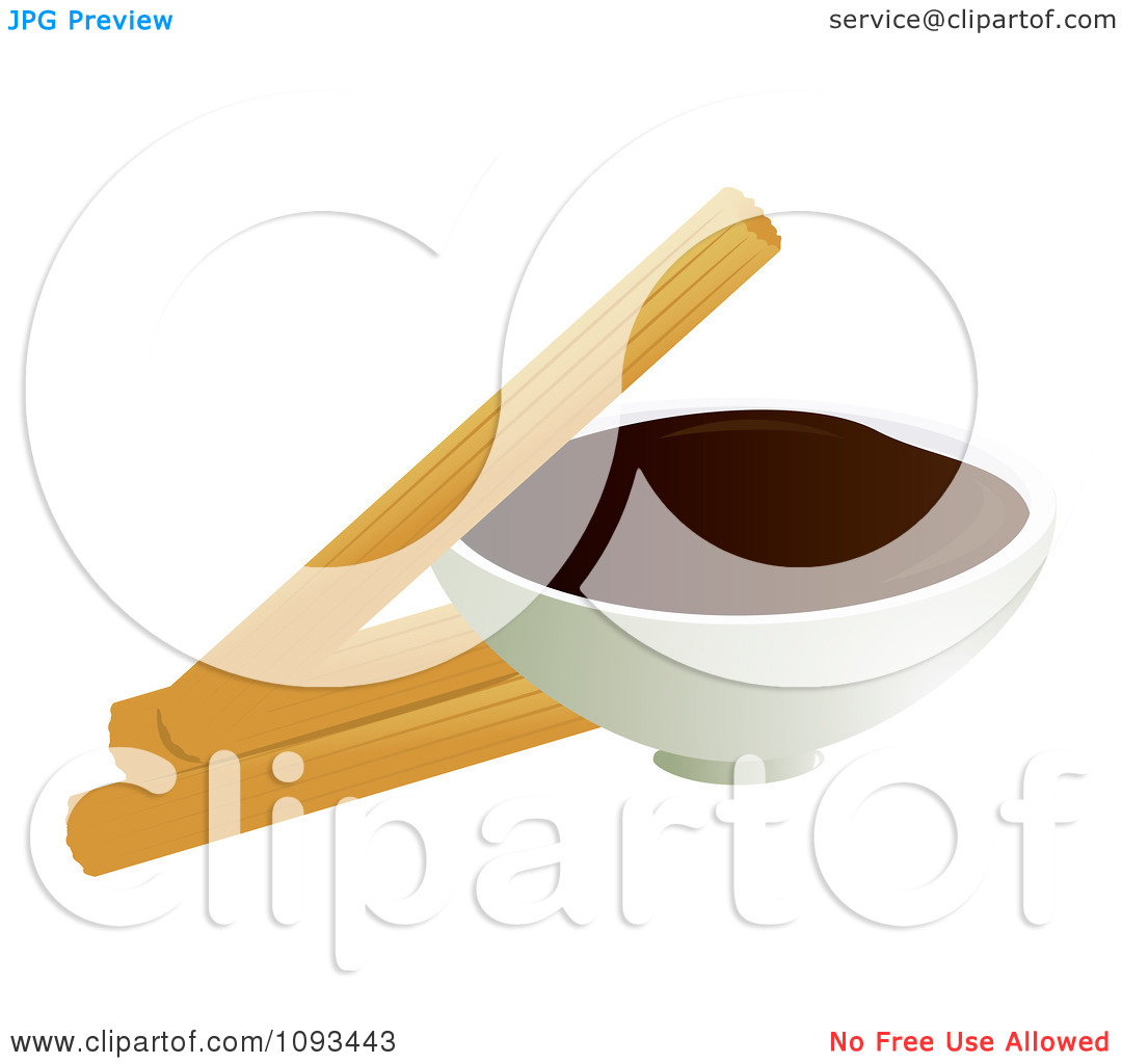 Clipart Churros And Chocolate Dip 1   Royalty Free Vector Illustration