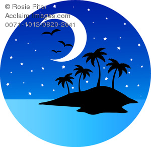 Night Moon And Stars Clipart - Clipart Kid