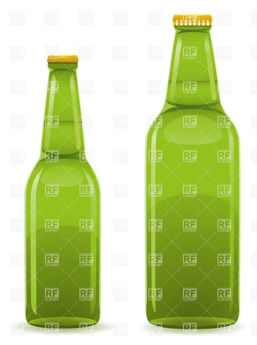 Green Closed Beer Bottle Without Label Download Royalty Free Vector