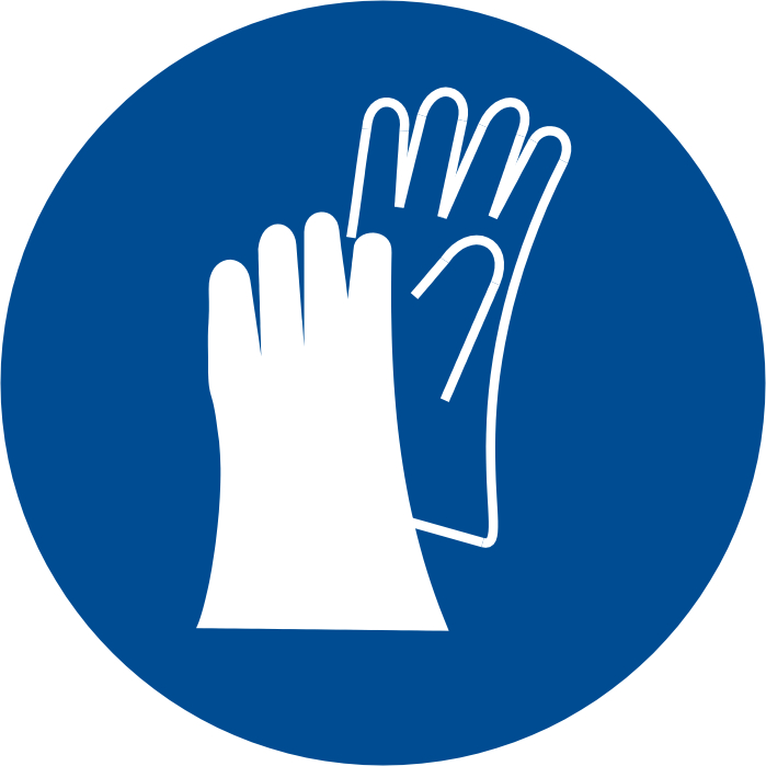 Lab Safety Symbols Gloves Wear Gloves Symbol