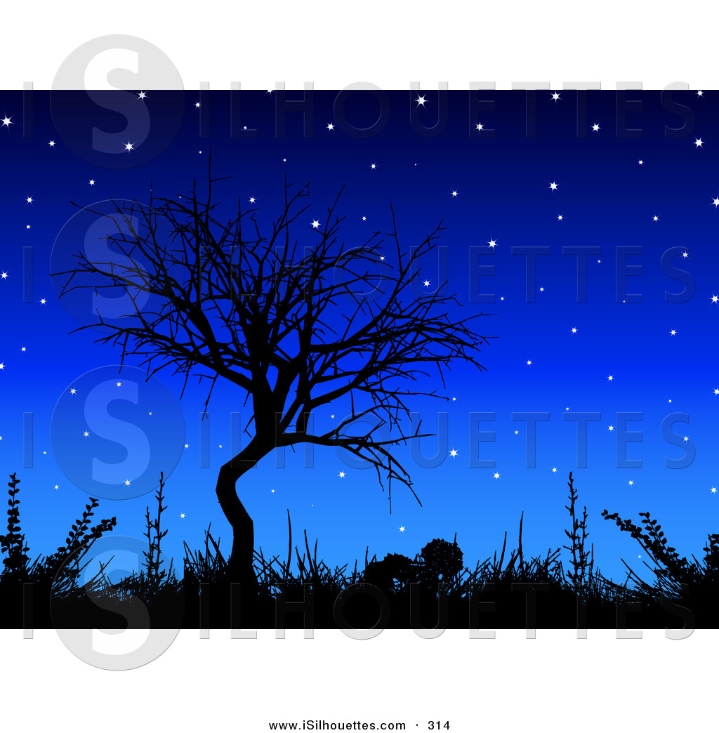 Royalty Free Night Time Stock Silhouette Clipart Illustrations