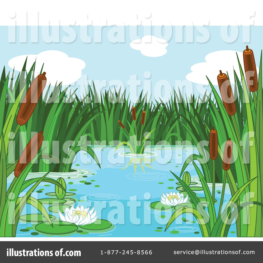 Royalty Free  Rf  Pond Clipart Illustration By Pushkin   Stock Sample