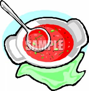 Soup Spoon Clipart A Soup Spoon And A Bowl Tomato Soup 110425 232584