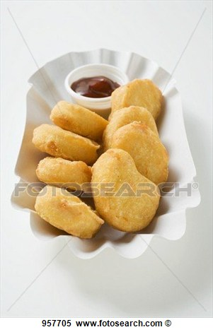 Stock Image Of Chicken Nuggets With Dip In Paper Dish 957705   Search