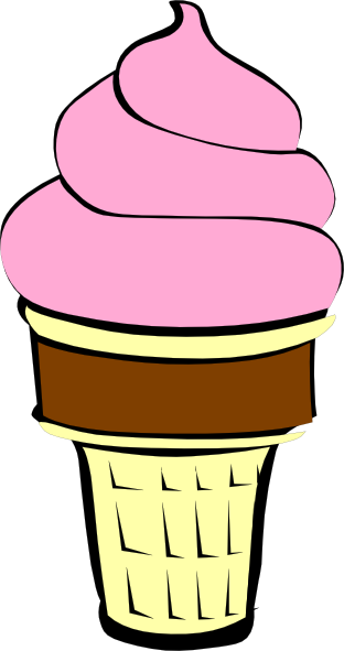 Strawberry Ice Cream With Chocolate Cone Clip Art At Clker Com