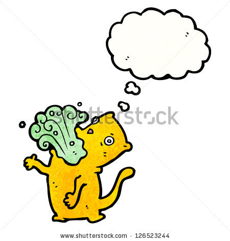 Bad Breath Clipart Cartoon Cat With Bad Breath