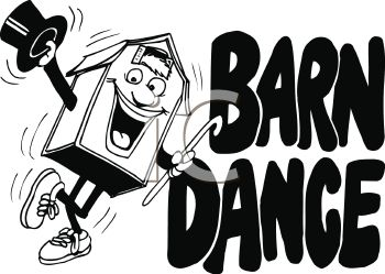 Barn Dance Sign   Royalty Free Clip Art Image