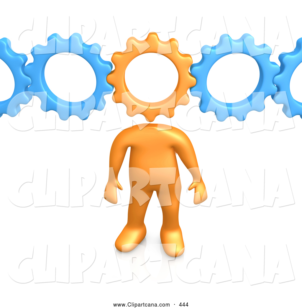 Blue Gear Clipart Connected To Blue Gears