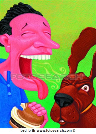 Clip Art Of Bad Breath Bad Brth   Search Clipart Illustration Posters