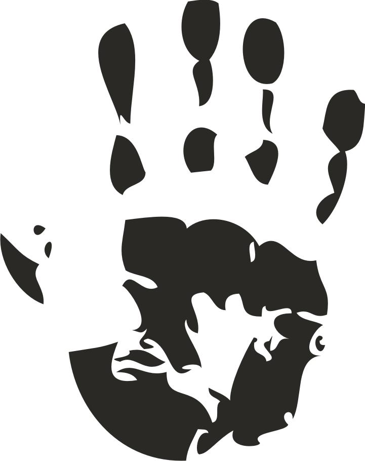 Clip Art Handprint Clipart hand print clipart kid clipartbest com