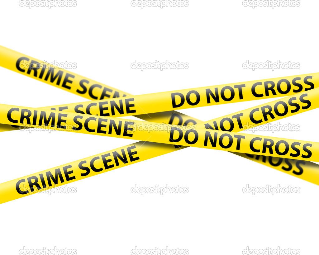 Crime Scene Tape   Stock Photo   Devke  4583300