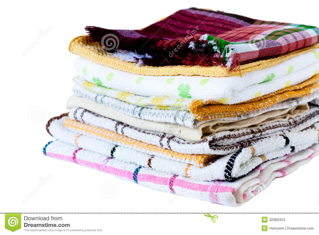 Dish Towel Stock Images   Image  32083424